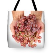 Two Handfuls Of Red Grapes Tote Bag