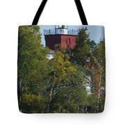 Two Harbors Mn Lighthouse 20 Tote Bag
