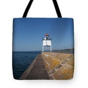 Two Harbors Mn Pier Light 9 Tote Bag