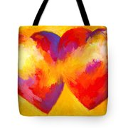Two Hearts Beat As One Tote Bag