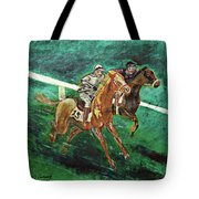 Two Horse Race Tote Bag
