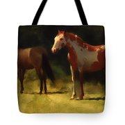 Two Horses Tote Bag