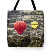 Two Hot Air Baloons Drifting Tote Bag