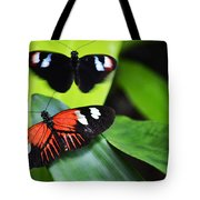 Two In The Leaves Tote Bag