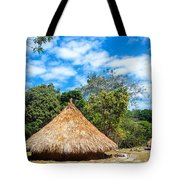 Two Indigenous Huts Tote Bag