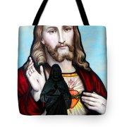 Two Jesuses Tote Bag