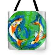 Two Koi Fish Tote Bag