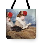 Two Ladies In A Carriage Ride Tote Bag