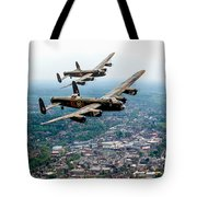 Two Lancasters Over High Wycombe Tote Bag
