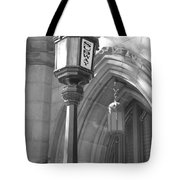Two Lights And A Church Tote Bag