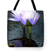 Two Lilies And A Heart Tote Bag