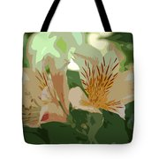 Two Lilies Cutout Tote Bag