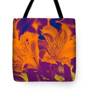 Two Lilies Gradient Tote Bag