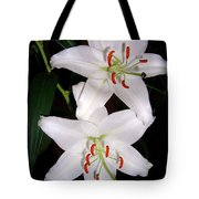 Two Lilies Tote Bag