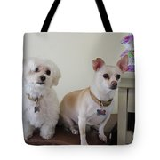 Two Little Dog Tote Bag