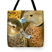 Two Little Ducks Tote Bag