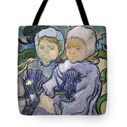 Two Little Girls Tote Bag