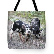 Two Little Pigs Tote Bag