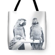 Two Macaws Tote Bag