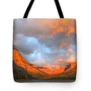 Sinopah Mountain And Two Medicine Lake Sunrise Glacier National Park Montana Tote Bag