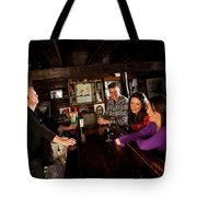 Two Men And Two Women Having Beer Tote Bag