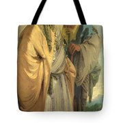Two Men In Oriental Costume Tote Bag