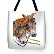 Two Mules - Enhanced Color - Farmer's Friend Tote Bag
