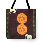 Two Of Pentacles Tote Bag