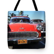 Two Old American Cars Tote Bag