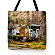 Two Old Cabooses Tote Bag