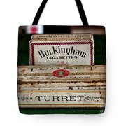 Two Old Cigarette Boxes Tote Bag