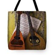 Two Old Mandolins Tote Bag