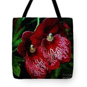 Two Orchids Tote Bag by Elizabeth Winter
