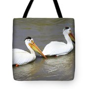 Two Pelicans Tote Bag
