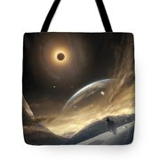 Two Persons Trying To Find Their Way Tote Bag