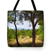 Two Pine Trees Tote Bag by Carlos Caetano