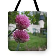 Two Pink Chives Tote Bag