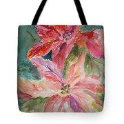Two Poinsettias Tote Bag