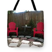 Two Red Chairs Tote Bag