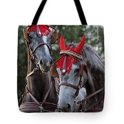 Two Red Devils Tote Bag