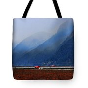 Two Red Farm Buildings Tote Bag