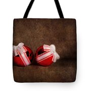 Two Red Ornaments Tote Bag