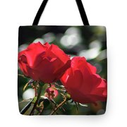 Two Red Roses Tote Bag