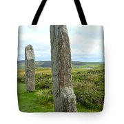 Two Ring Of Brodgar Stones Tote Bag