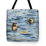 Two River Otters Tote Bag