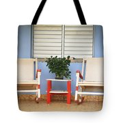 Two Rocking Chairs On The Porch Tote Bag