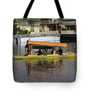 Two Shikaras Next To Each Other In The Dal Lake Tote Bag