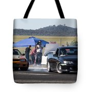 Two Sideways Action Tote Bag