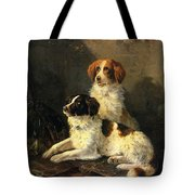Two Spaniels Waiting For The Hunt Tote Bag