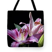 Two Star Lilies Tote Bag